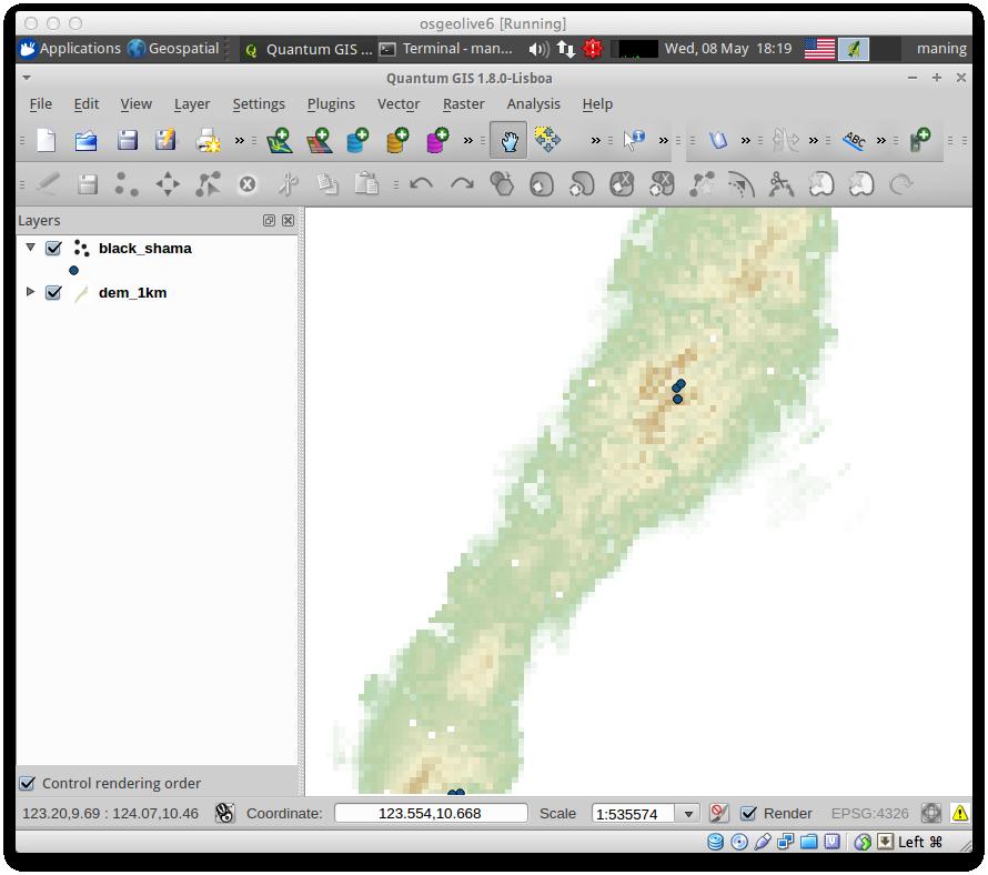 Preparing data for MaxEnt — CLP-FFI-ESSC FOSS4G Workshop